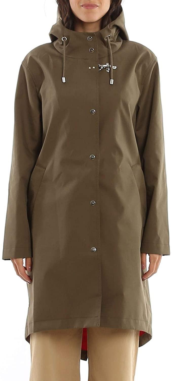 fay Luxury Fashion Woman NAW15403530RPB01PE Green Polyamide Coat | Spring Summer 20