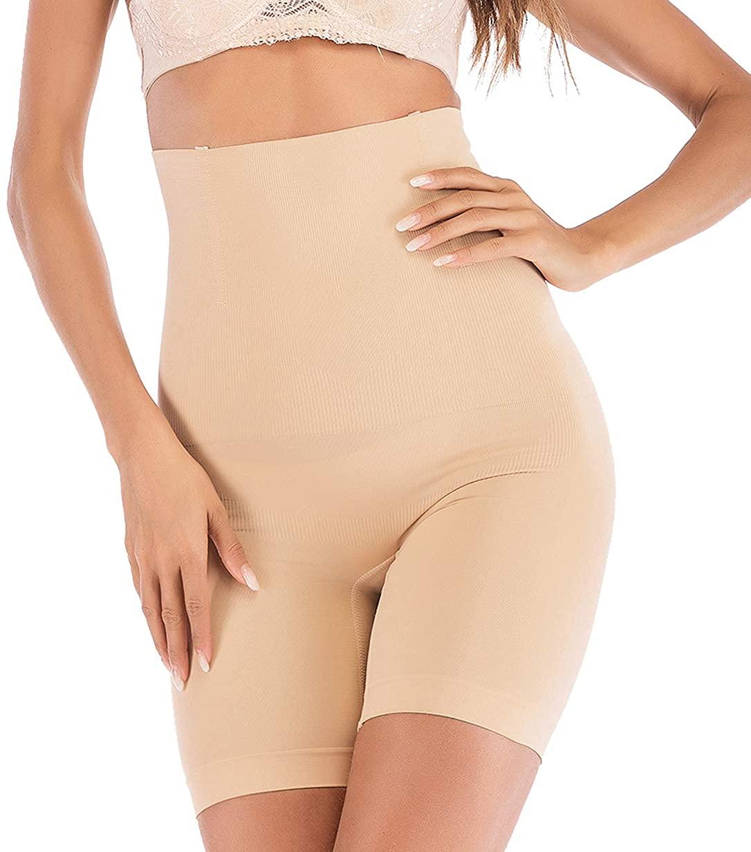 SAYFUT Women's Hi-Waist Shapewear Butt Lifter Body Shaper Tummy Control Panties Seamless Thigh Slimmers Cincher