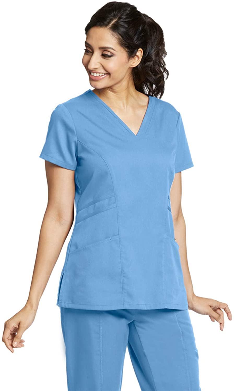 Grey's Anatomy 41452 Women's V-Neck Scrub Top Ciel Blue M