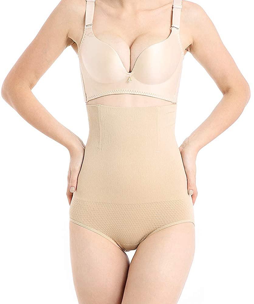 RRLOM Women Body Shaper High Waist Butt Lifter Tummy Control Panty Waist Trainer Shapewear Small to Plus-Size