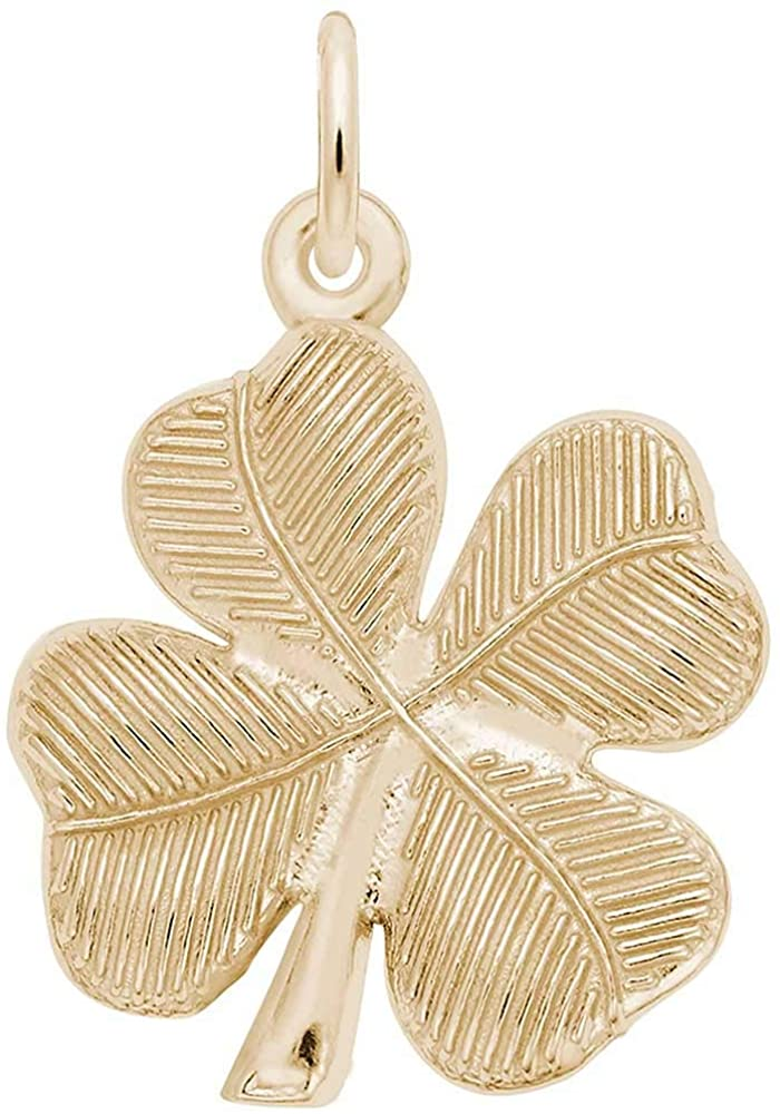 Rembrandt Charms Four Leaf Clover Charm, 10K Yellow Gold