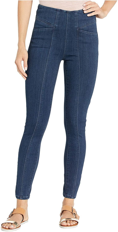 Liverpool Reese High-Rise Ankle Skinny Leggings w/Slant Pockets in Silky Soft Denim in Breckenridge