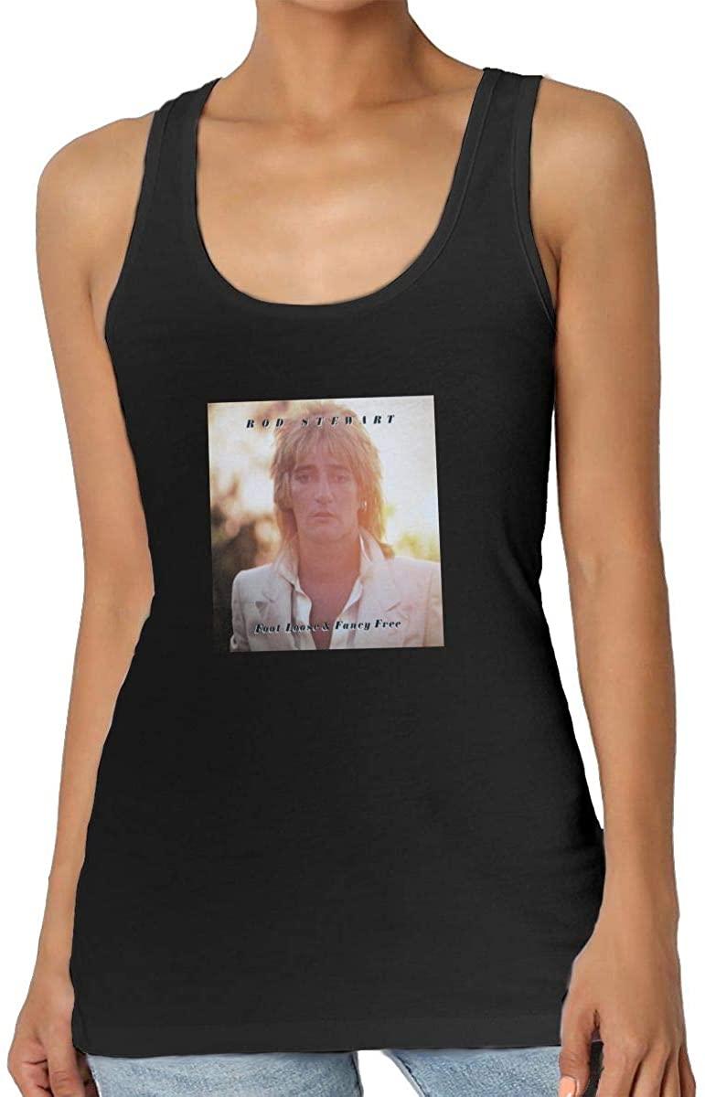 Rod Stewart Advanced Fashion Comfortable Soft Sleeveless Shirt Womens Summer Vest Black