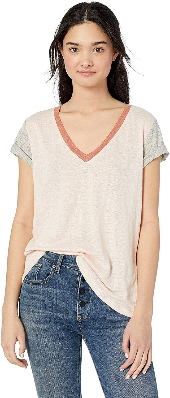 Miss Me Women's Linen V Neck T Shirt