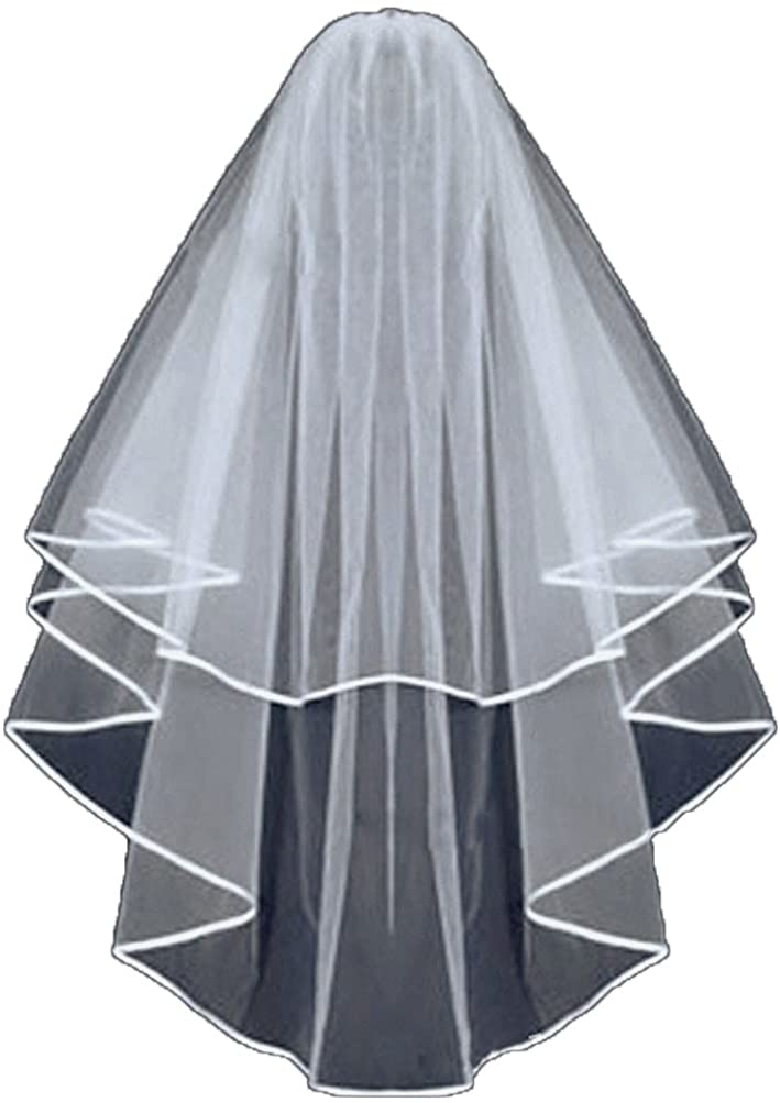 GiayMus Wedding Veil Double with a Comb Bridal Veil 6080cm Bride to be