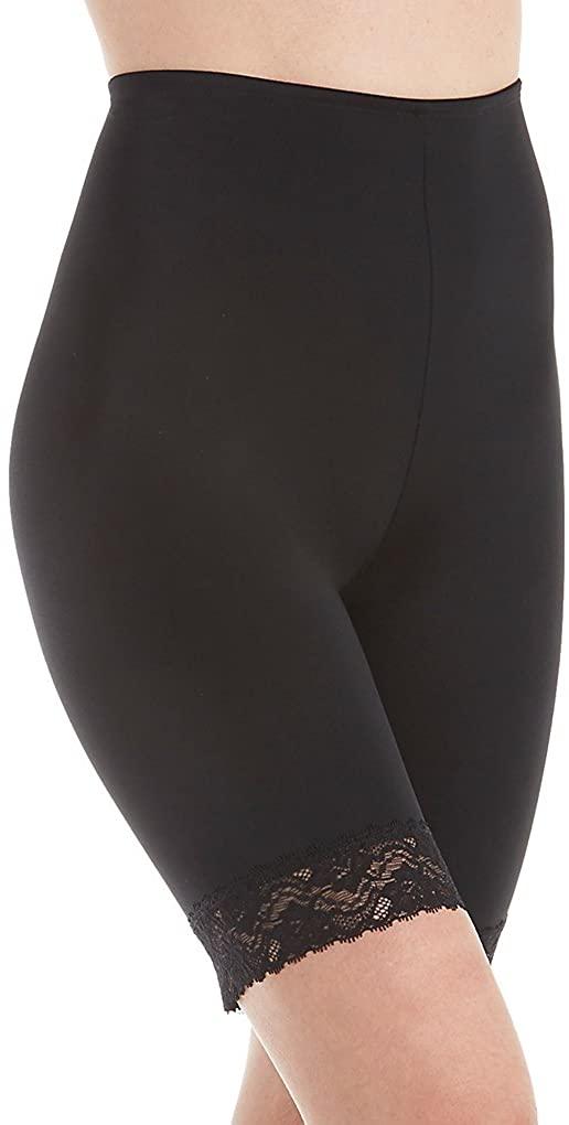 Jones New York Women's Lace Shapewear Tummy Control Thigh Slimmer 785175 XL Black