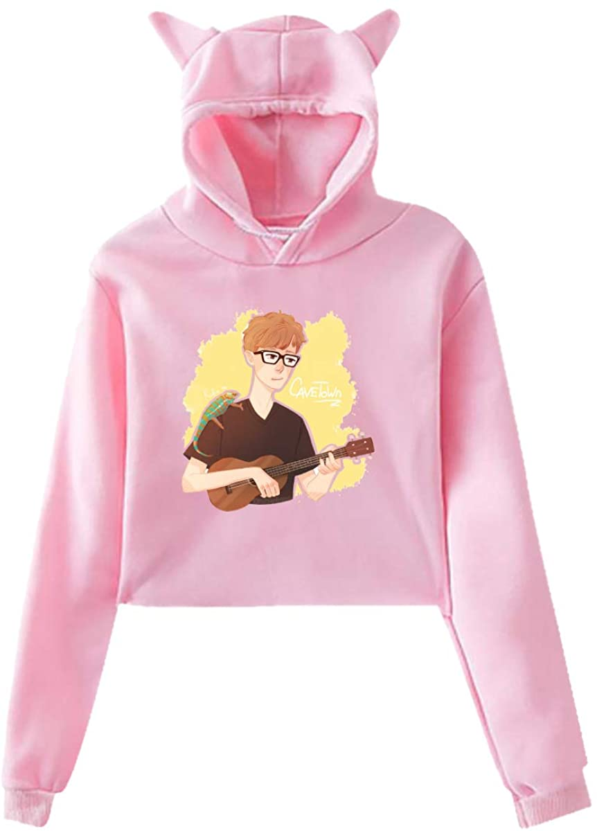 Cavetown Long Sleeve Cat Ear Pullover Hoodie Sweater Soft Fashion Casual Sweatshirt