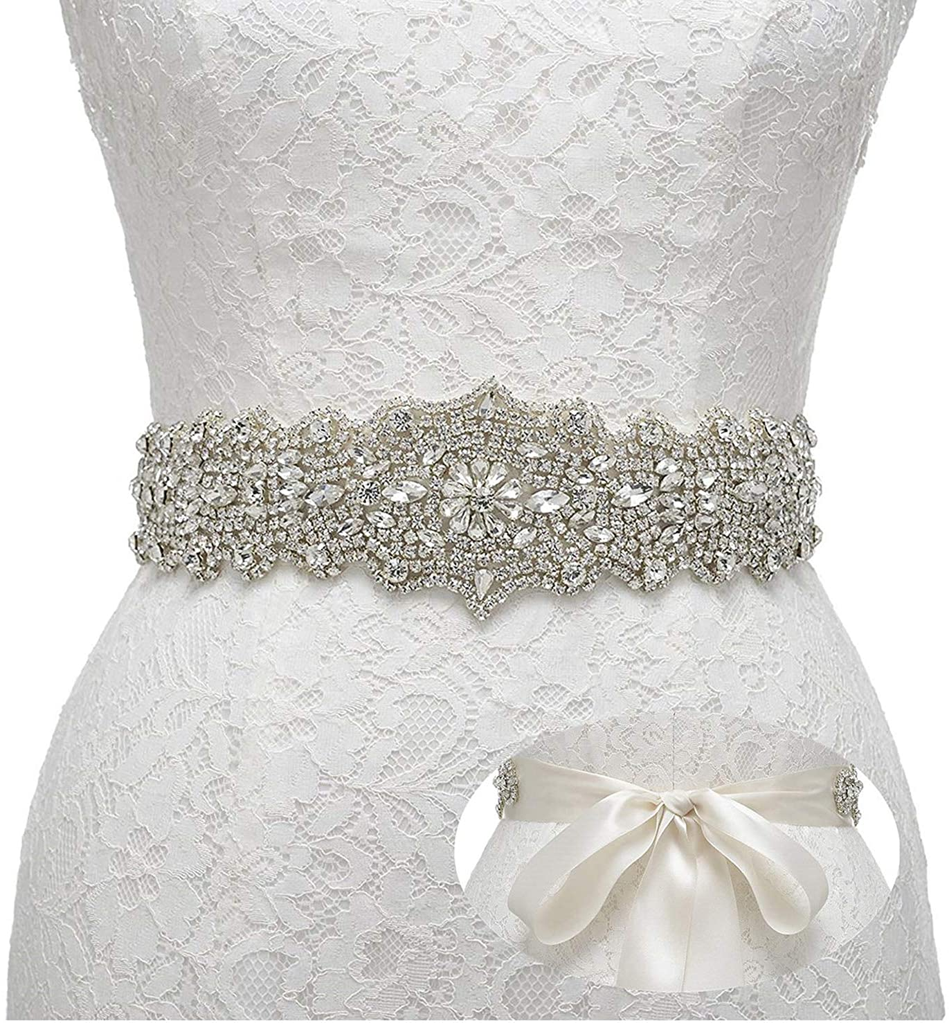 Remedios Rhinestone Bridal Belt Crystal Wedding Belt Bridesmaid Sash Women Dress Accessories