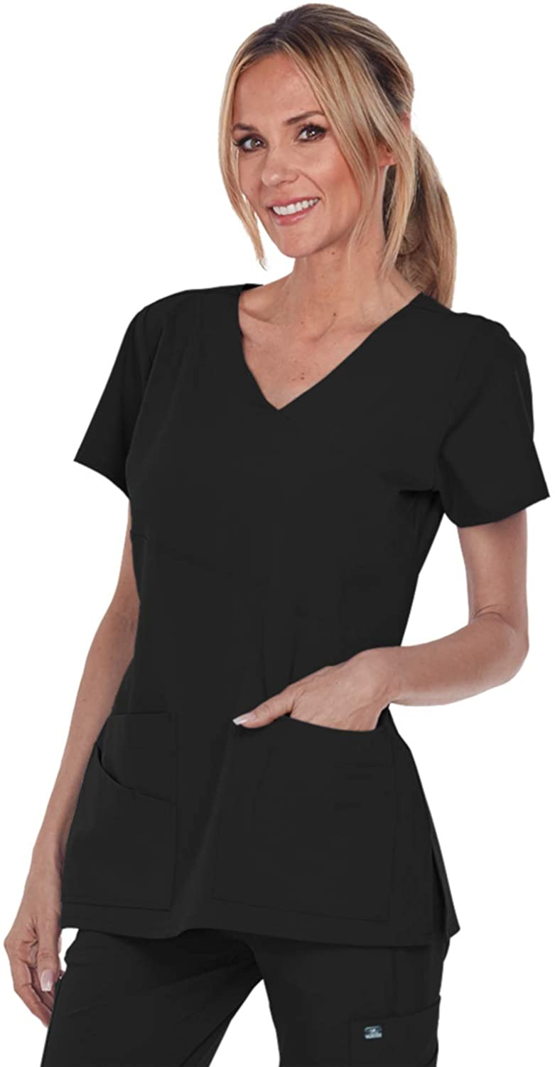 Grey's Anatomy Signature 2130 Mock Wrap Top Black M