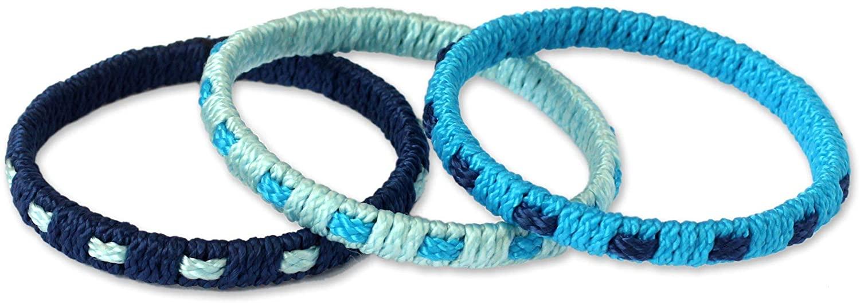 NOVICA Bangle Bracelets, Blue Fantasy' (Set of 3)