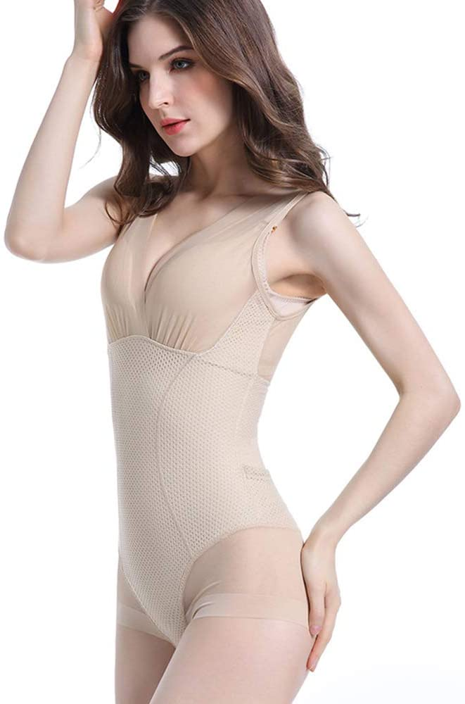 YHL Body Shaping Body Underwear, Rear Pull-Up Bodysuit, Sweat-Absorbent Breathable for Party, Sports,Flesh,M