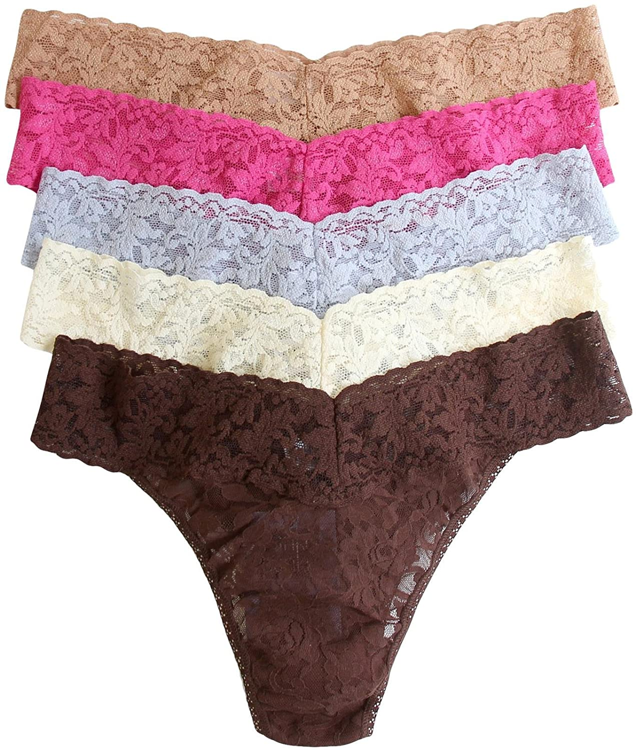 hanky panky Signature Lace Low Rise Thong 5-Pack