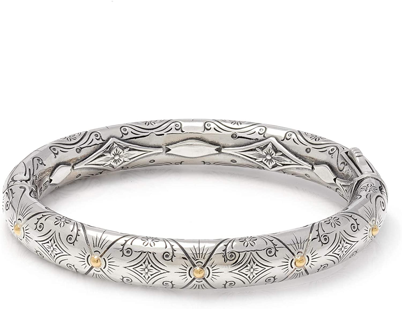 Konstantino Women's Bangle Bracelet, Silver, 6.5 IN