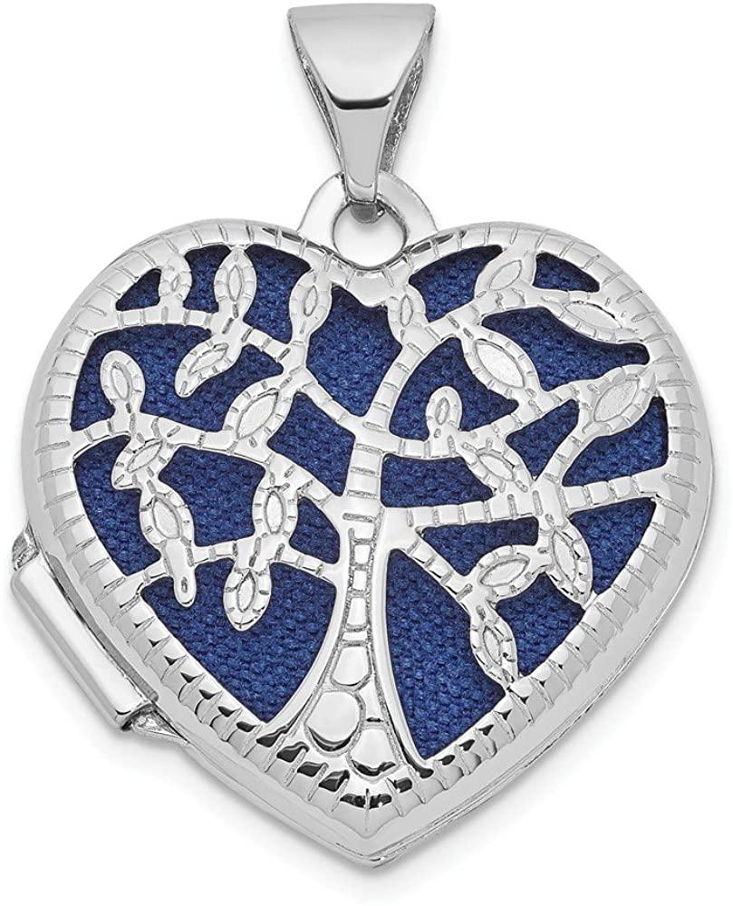 Beautiful White gold 14K 14k White Gold 18mm Tree Heart Locket