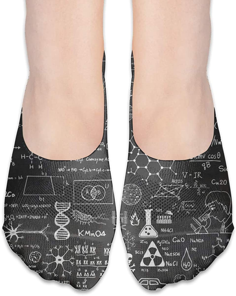 No Show Socks For Women Funny Science Low Cut Sock Liners Invisible Socks