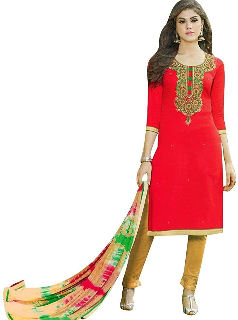 Readymade Elegant Cotton Embroidered Salwar Kameez Suit Indian Dress Pakistani