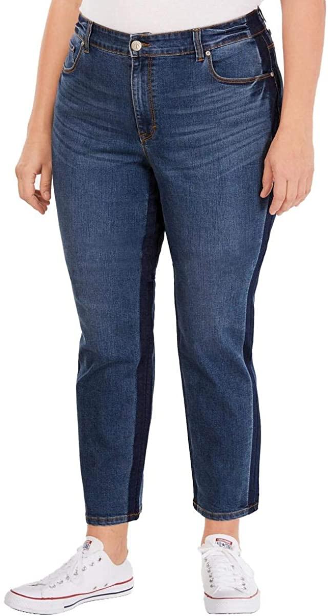 Style & Co. Womens Plus Kate High Rise Denim Slim Leg Jeans
