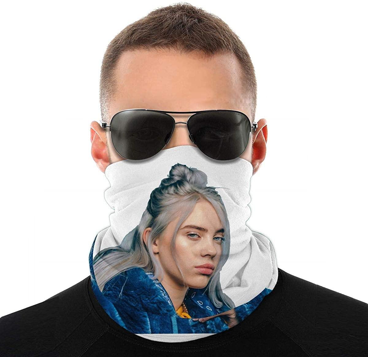 B-Il-Lie E-I-Li-Sh Outdoor Mask Headband Elastic Seamless Bandana Scarf Sport Headwear for Yoga Hiking Neck Warmer White