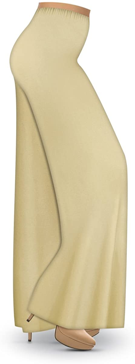 Solid Brown or Tan Slinky Wide Leg Plus Size Supersize Palazzo Pants