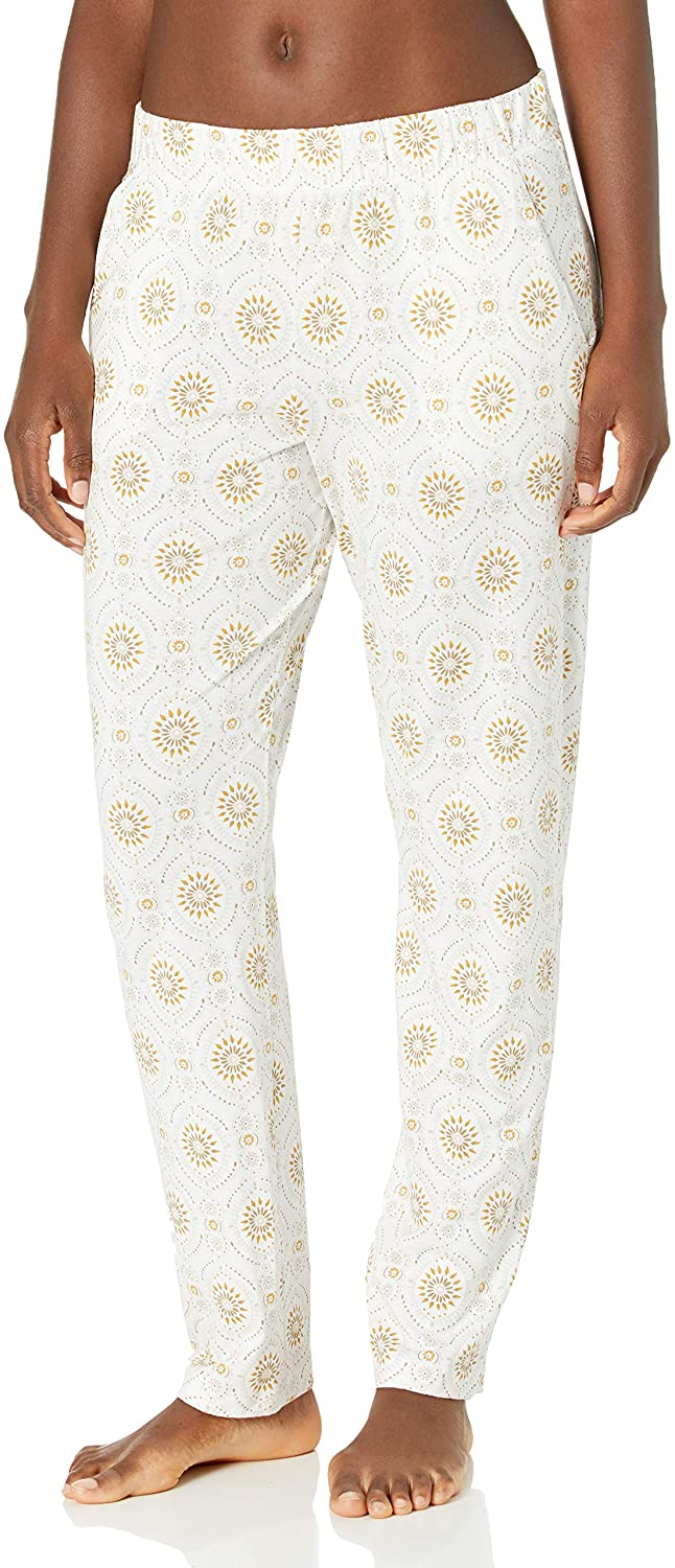 HANRO Women's Sleep and Lounge Printed Knit Long Pant