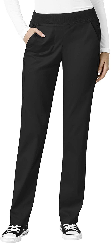 WonderWink PRO Women's Knit Waist Cargo Scrub Pant Black