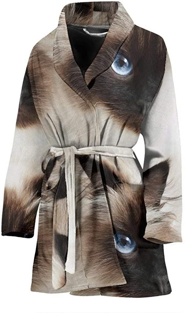 Himalayan cat Print Women's Bath Robe