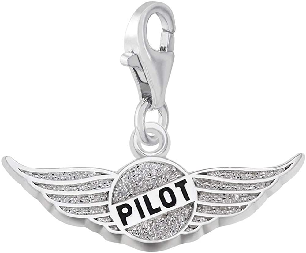 Rembrandt Charms Pilot's Wings Charm with Lobster Clasp