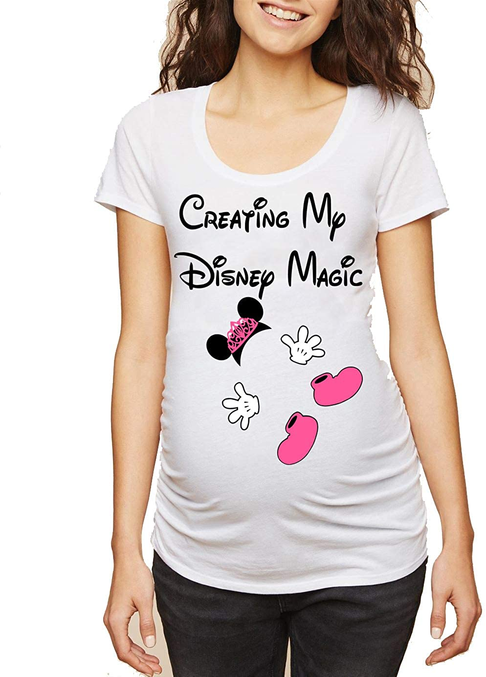 Creating My Magic Shirt Maternity Minnie Mommy T Shirt Funny Pregnancy Announcement Tee