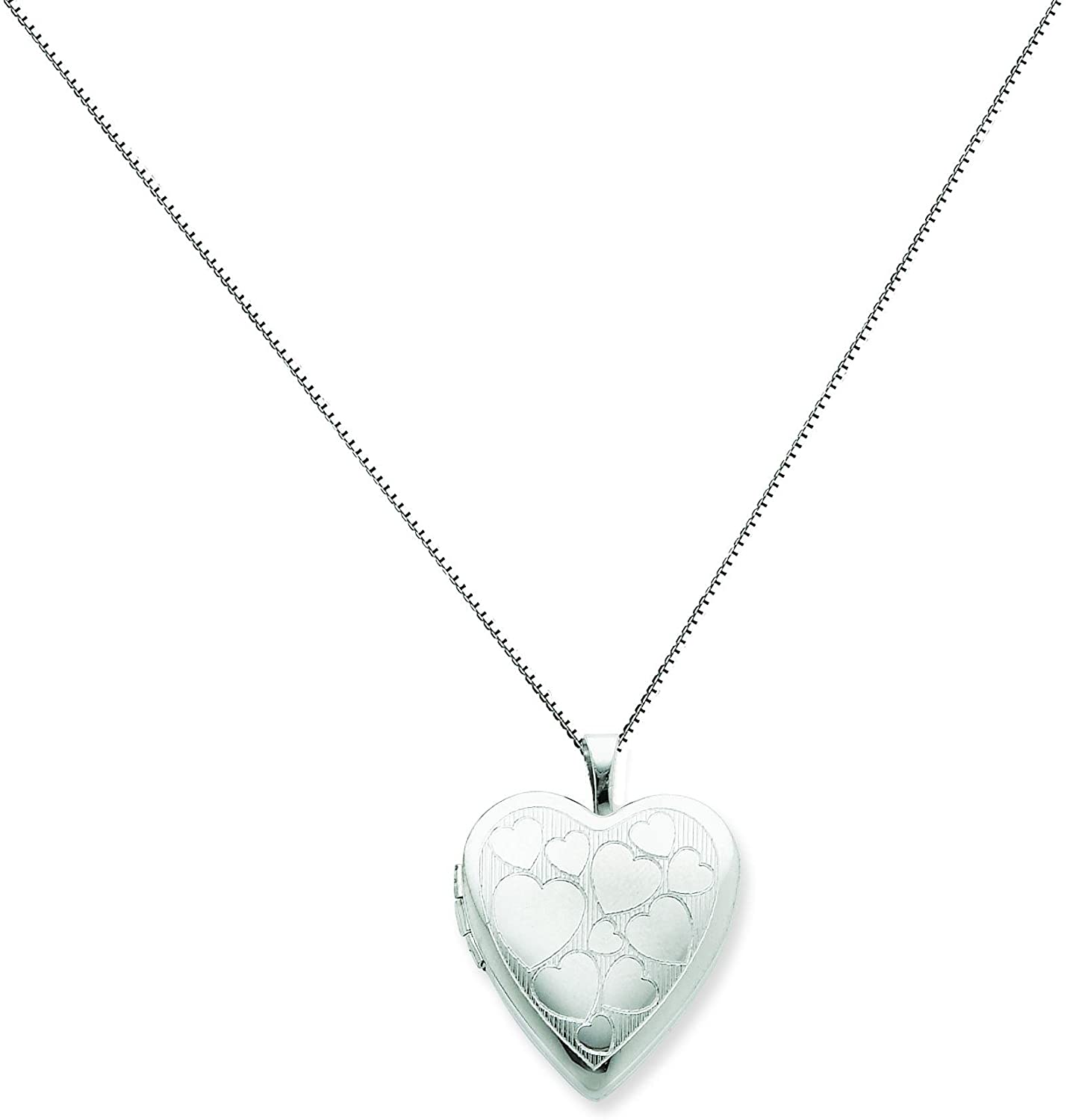 Sterling Silver 20mm With Floating Hearts Heart Locket Jewelry