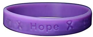 Fundraising For A Cause | Purple Silicone Bracelets - Purple Ribbon Awareness Silicone Bracelets for Adults (1 Bracelet)