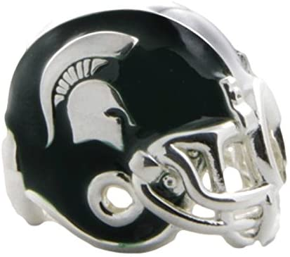 Michigan State Charm | Michigan State Spartan Helmet Charm | Officially Licensed Michigan State Jewelry | Michigan State Charms | MSU Gifts | Stainless Steel