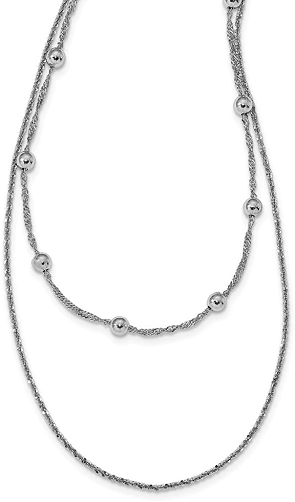 925 Sterling Silver 4 in Extension Choker Necklace