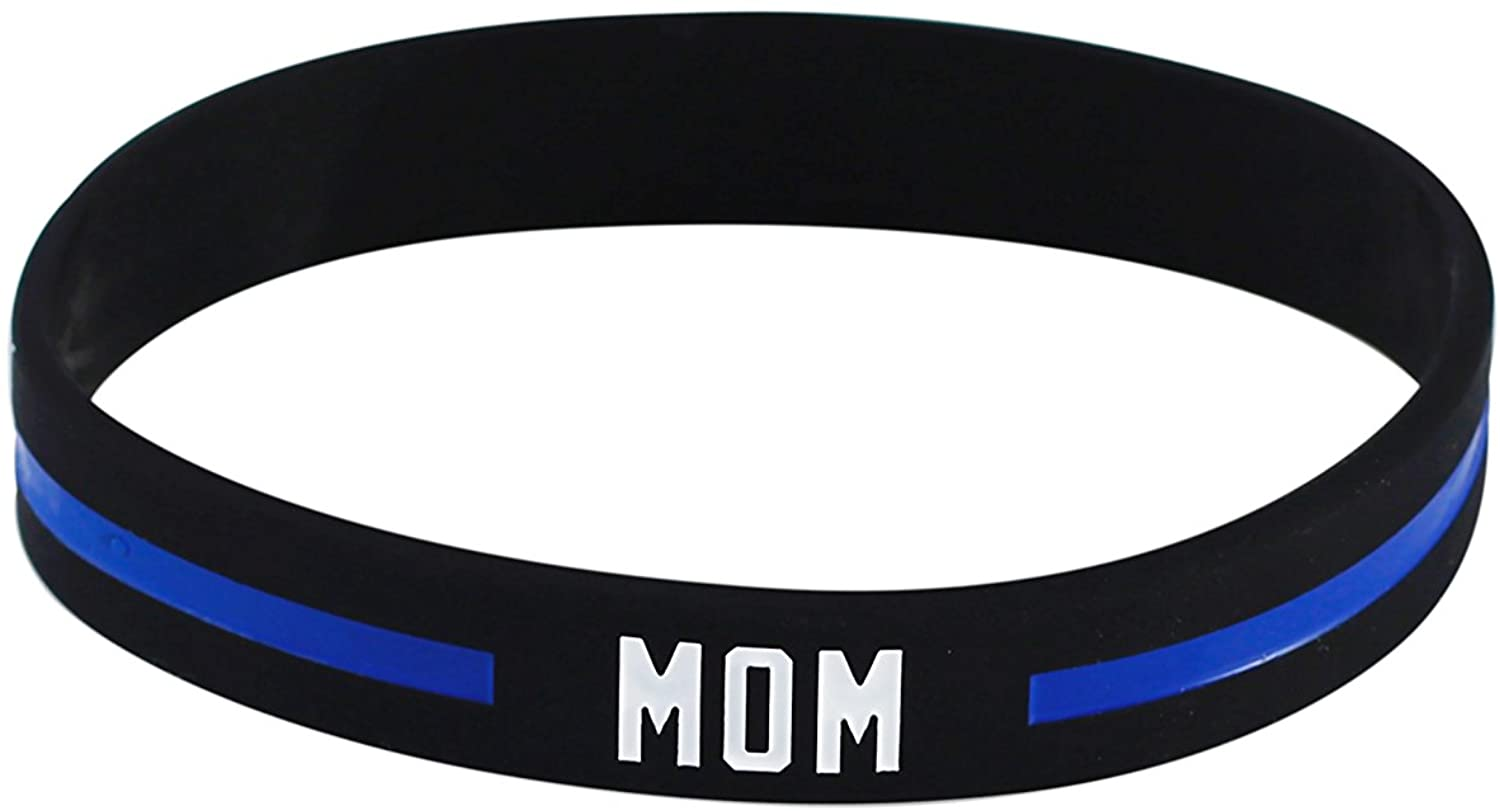 Forge Thin Blue Line Police Officer Awareness Silicone Band 7.5