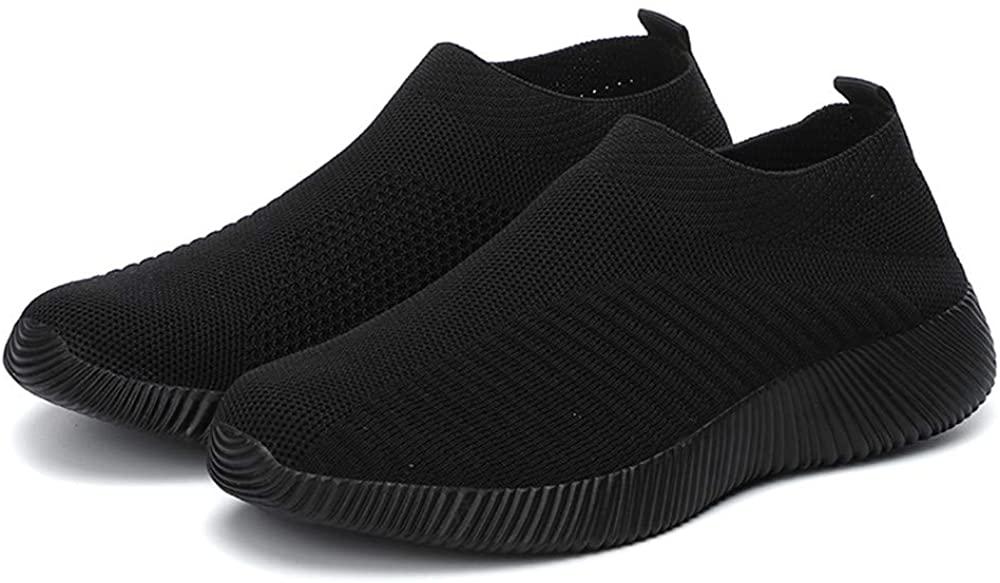 YIRANFA Women Walking Shoes Slip On Casual Mesh Lightweight Sneakers