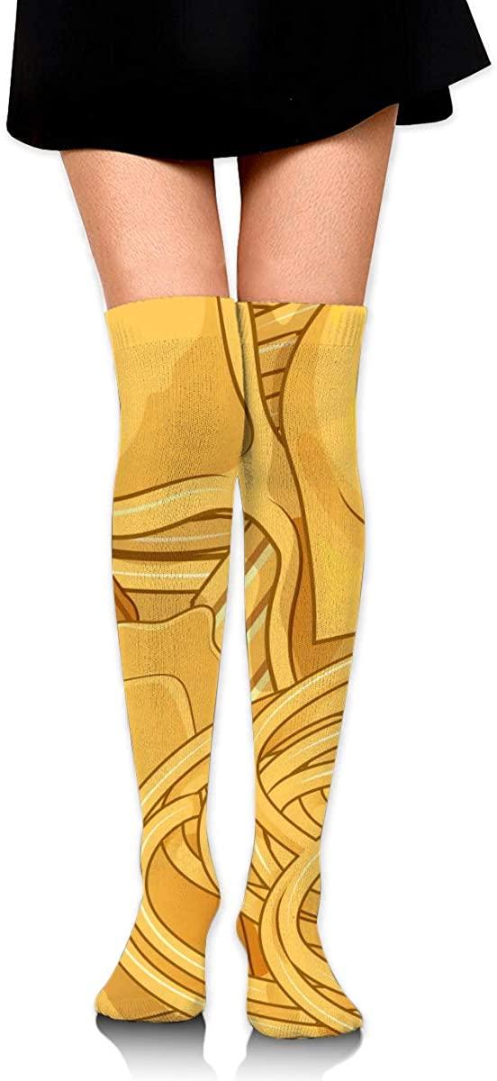 Dress Socks Real Italian Pasta Food High Knee Hose Tights Hold-Up Stockings