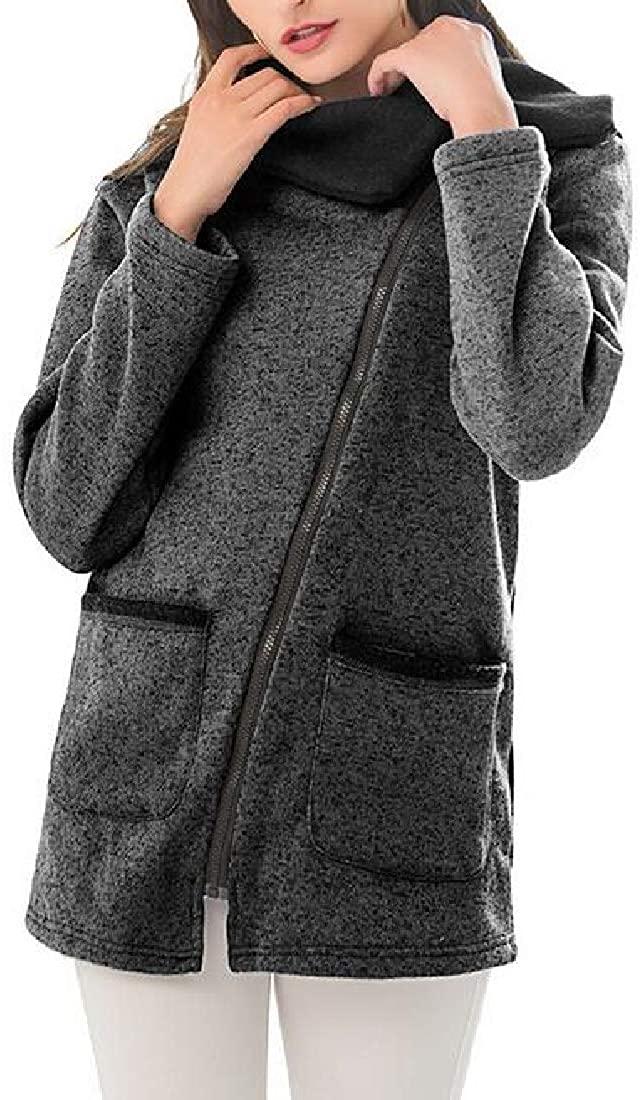 Fubotevic Women's Coats Jackets Fleece Lined Plus Size Loose Sweatshirts Coat Jacket