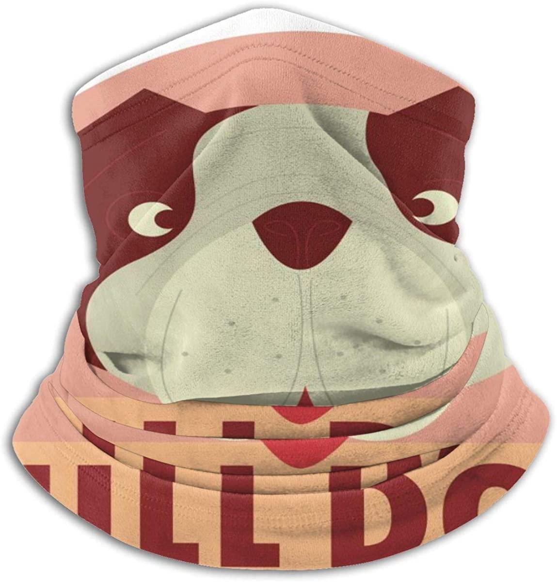 Face Mask, Neck Gaiter, Bull Dog Bandana, Balaclava Windproof Anti Dust Magic Scarf for Women Men