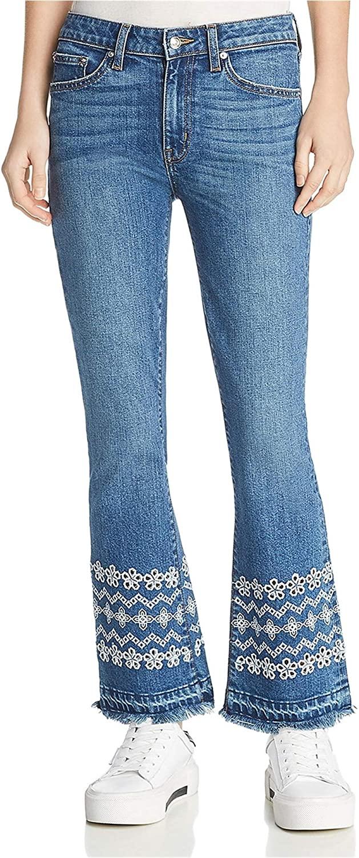 Derek Lam Womens Jane Flip Flop Flared Jeans