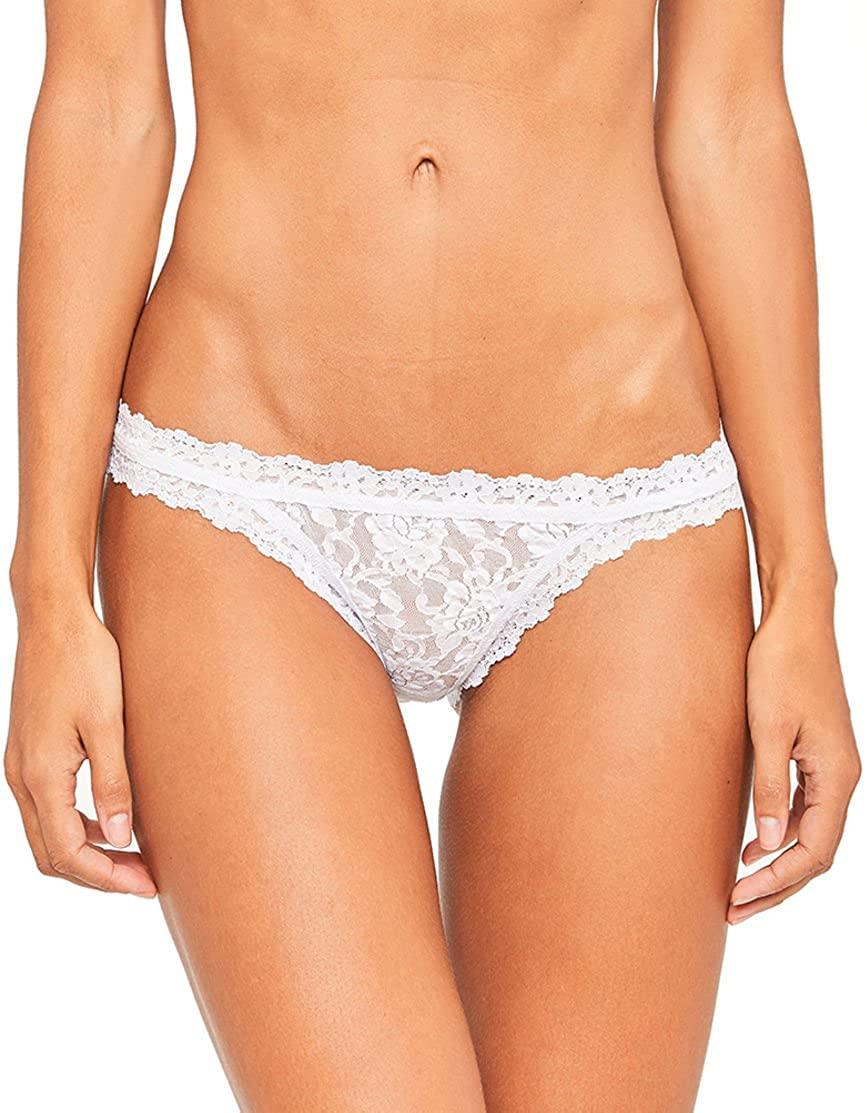 Hanky Panky Women's Signature Lace Brazilian Bikini 482102 (White/Large)