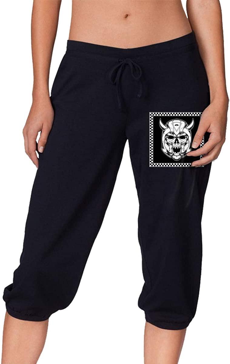 USA Flag Spartan Warrior Helmet Women Trendy Trousers