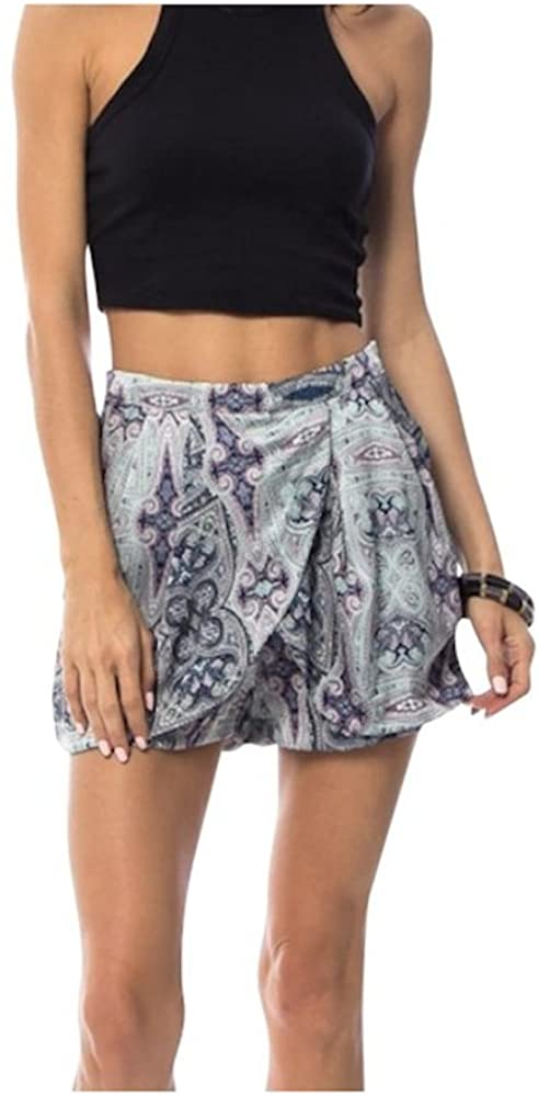 Final Sale- NO Returns Tapestry Print Overlap Origami Shorts