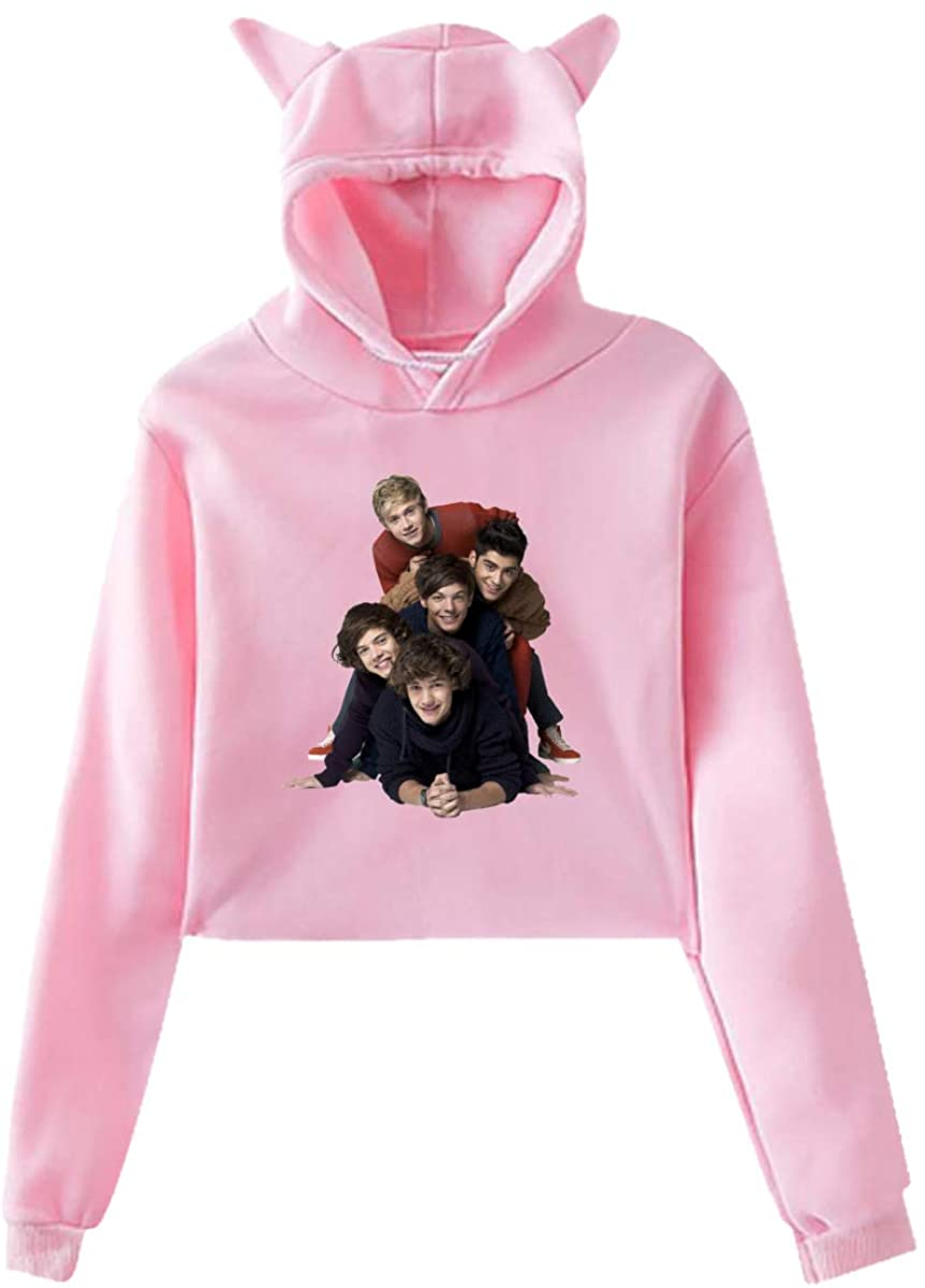 One Direction Women's Classic Cat Ear Hoodie Sweater