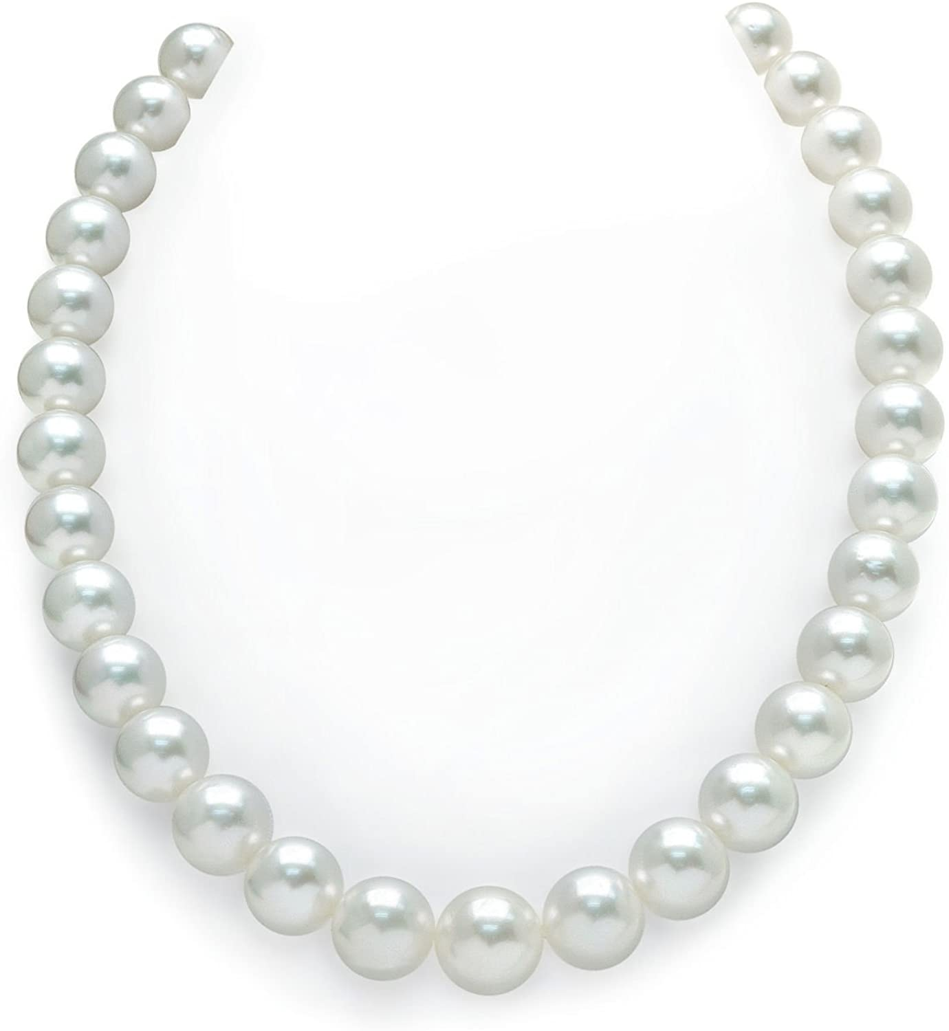 THE PEARL SOURCE 14K Gold 11-14mm Round Genuine White South Sea Cultured Pearl Necklace in 20
