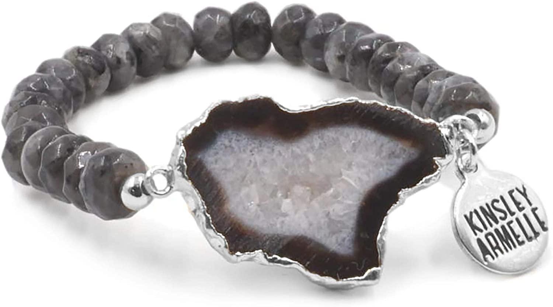 Kinsley Armelle Agate Collection - Silver Smoky Bracelet
