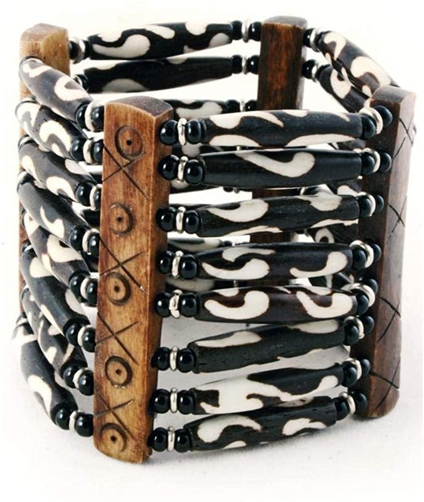 Authentic African Hand Crafted Batik Cow Bone Bracelet II