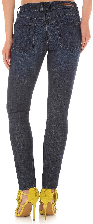 Wrangler Women's Destructed Dark Skinny Jeans Indigo 9W x 31L