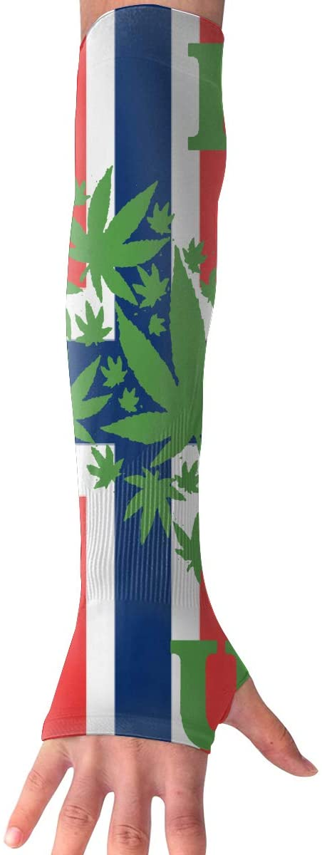 Game Life Norwegian Flag Weed UV Sun Protective Outdoors Stretchy Cool Arm Sleeves Warmer Long Fashion Sleeve Glove