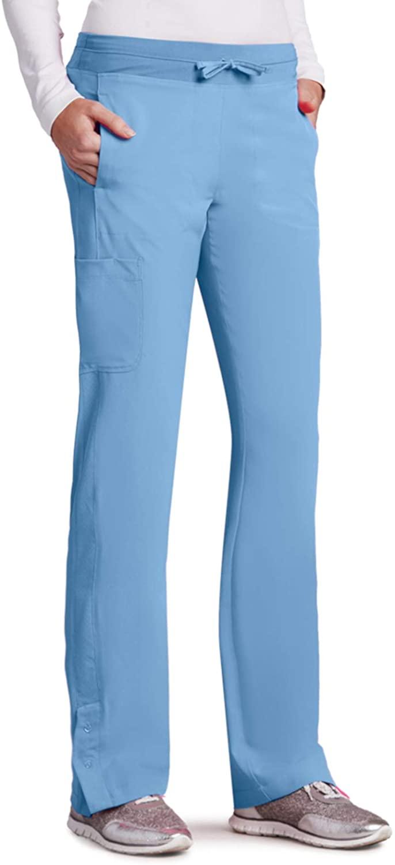 BARCO One 5205 Women's Cargo Track Scrub Pant Ciel Blue S Petite