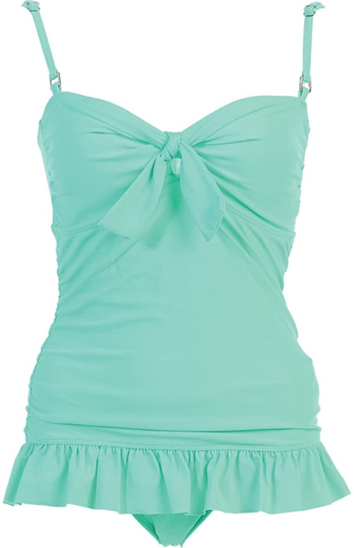 2 PC. Ladies Mint Tankini Swimwear