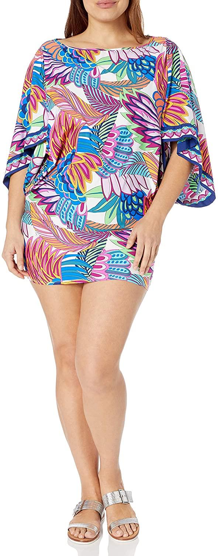 Trina Turk Womens Tunic Swim Cover-up